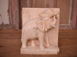 Antique Marble Elephant Panel, Udaipur <b>SOLD<b>